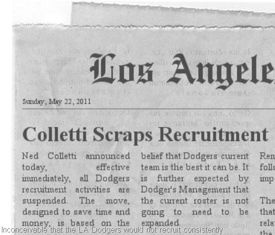 Can you imagine the LA Dodgers scrapping their recruiting?