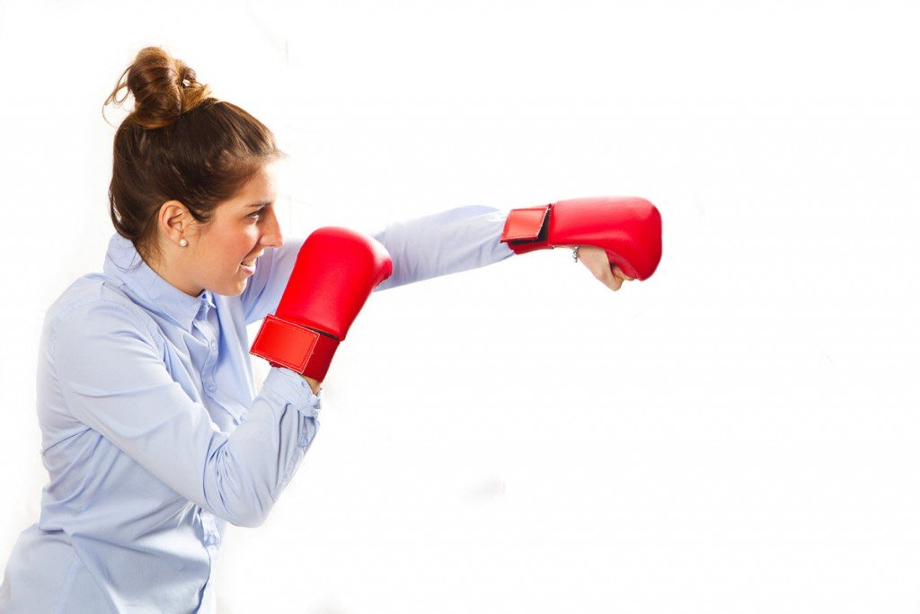 Business Woman Boxing small